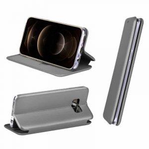 funda flip cover iphone 12 pro max elegance plata 2