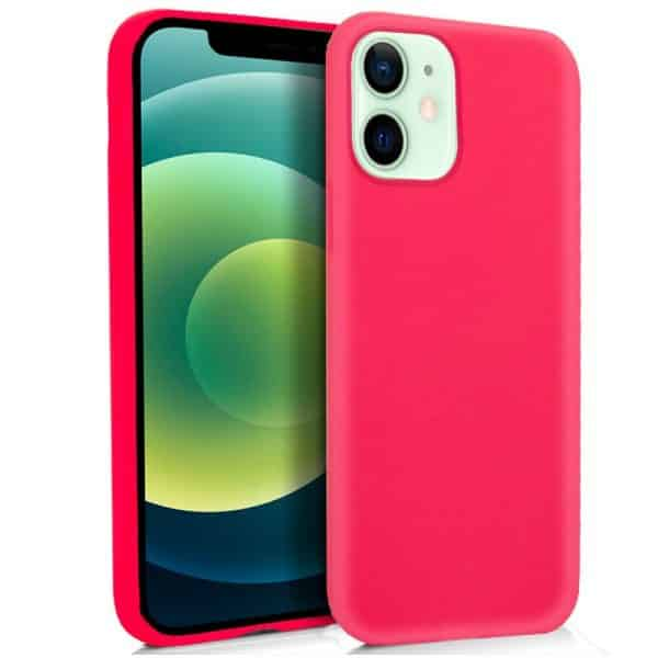 funda silicona iphone 12 12 pro rosa 1