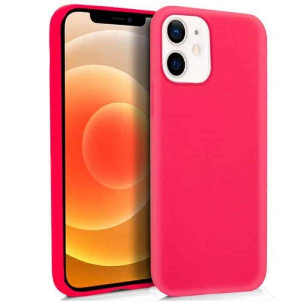 funda silicona iphone 12 mini rosa 1