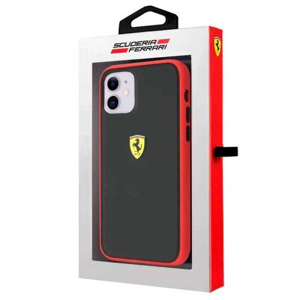 carcasa iphone 11 licencia ferrari negro borde rojo 2