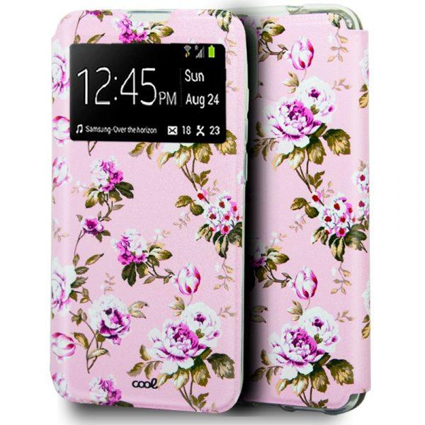 funda flip cover iphone 12 12 pro dibujos flores 1