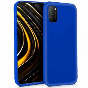 funda silicona para xiaomi pocophone m3 redmi 9t azul 1