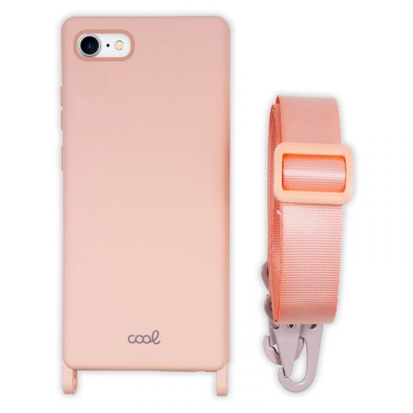 carcasa iphone 7 8 se 2020 cinta rosa 1